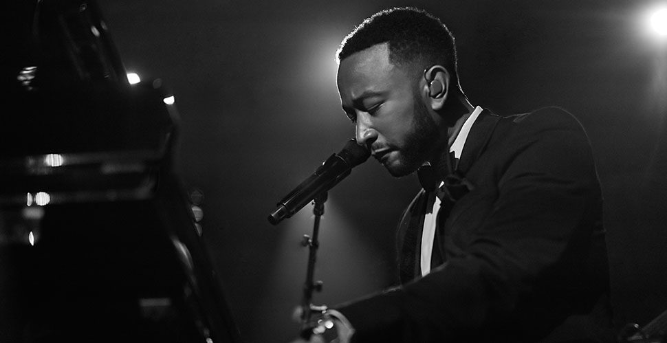 John Legend performing at Beverly Hilton Hotel for the Clive Davis Pre-Grammys Gala. Leica M10-P with Leica 50mm Summilux-M ASPH f/1.4. © Thorsten Overgaard.