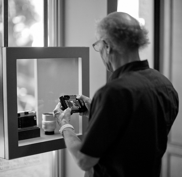 Looking at the Leica Q at Meister Camera Berlin