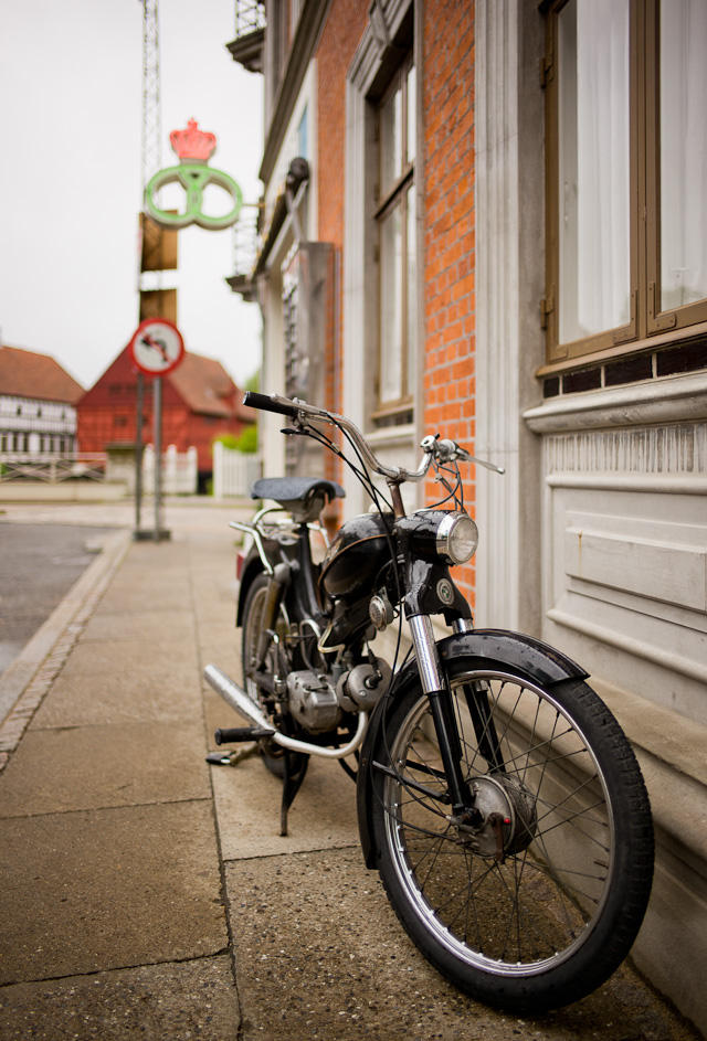 Puch motor bike from the 1970's. Leica M 240 with Leica 28mm Summilux-M ASPH f/1.4. © 2015 Thorsten Overgaard. Lightroom 2010 Process, colors with Sekonic C-700 Color Meter.