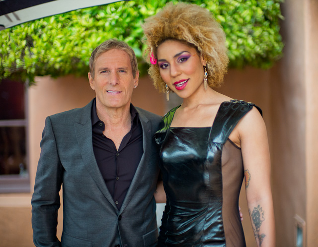 Michael Bolton and Joy Villa at the Rocnation pre-Grammy Brunch