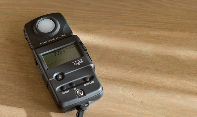 I also have the Kenko KCM-3100 color meter. Price is $799 at BH Photo.