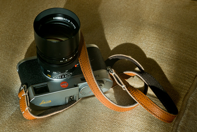 Riviera Camera Strap (€67) from Tie Her Up. They make custom lengths. The camera is my Leica M 240 in chrome with Hermes orange Leica engraving. © 2015-2018 Thorsten Overgaard.