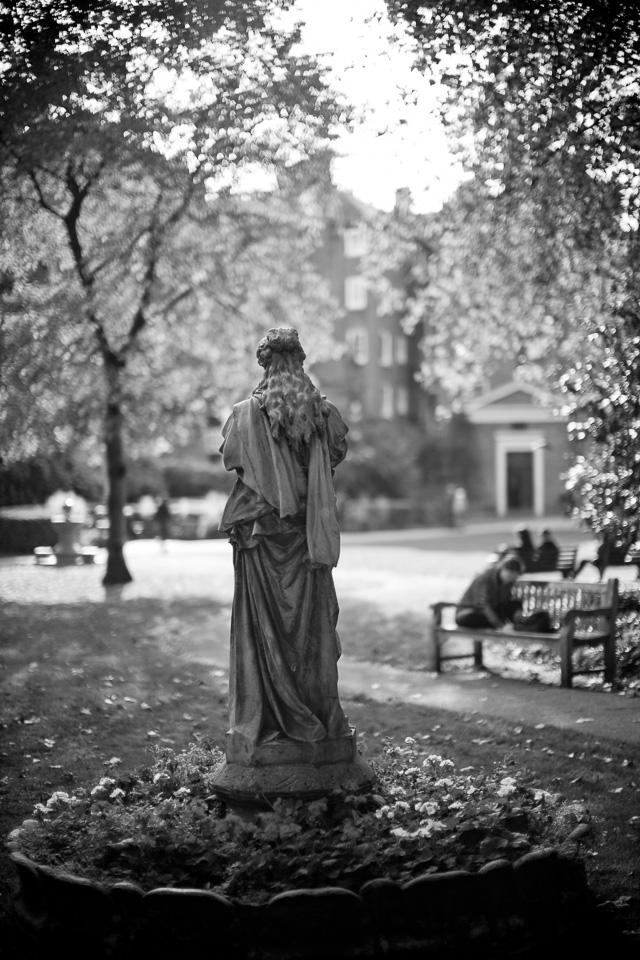 Saint George's Gardens in London ... in black and white. Leica M 240 with Leica 50mm Noctilux-M ASPH f/0.95.