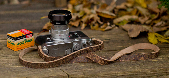 Leica M4 with Nevada black leather strap from Tie Her Up