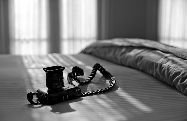 I got my new black leather Tie Her Up camera strap sent to Los Angeles in August 2015 from Greece. It's a Rock'n'Roll Chain custom made for my Leica M 240 so it fits perfectly with a 125 cm length (the long of the two lengths it comes in). Tie Her Up also makes their straps custom length, so all you got to do is ask. Leica M 246 with Leica 50mm Noctilux-M ASPH f/0.95.