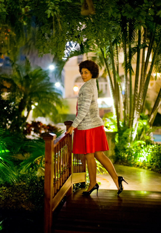 Date night in the garden: My wife Joy Villa likes to wear dresses. Here it's a vintage set she bought in a local store in Florida. Leica M10 with Leica 50mm Noctilux-M ASPH f/0.95 FLE. © 2017 Thorsten Overgaard.