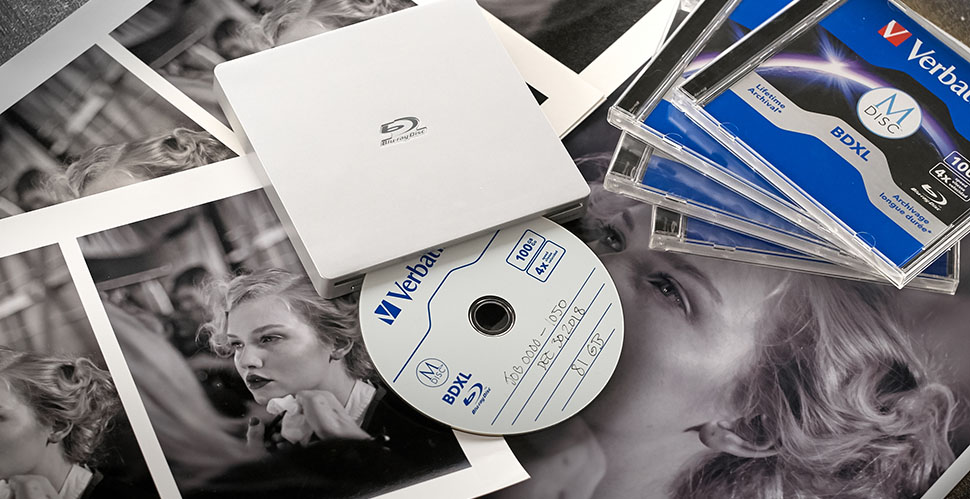 Verbatim 100GB archival BluRay discs. © 2019 Thorsten Overgaard.