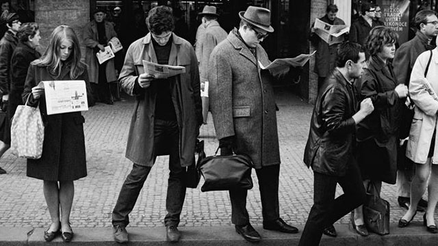 Robert Lebeck (1929-2014) was a German photographer. Prague Sprint 1968, capturing the atmosphere of newfound press freedom following a brief liberalization.