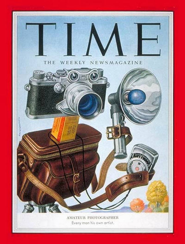 TIME Magazine November 2, 1953 with a Leica on the cover