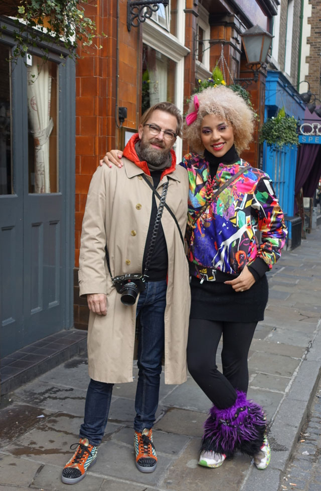 Thorsten Overgaard and Joy Villa in Monmouth Street, London Oct 2015