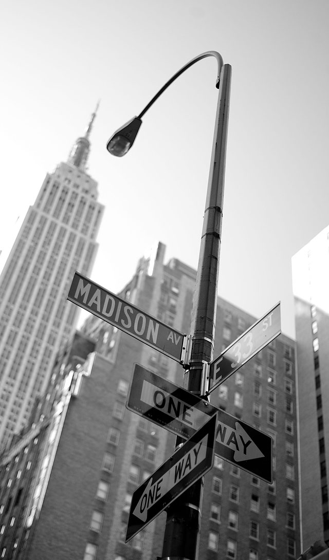 Madison Avenue with Empire State Building in the background . © 2016 Thorsten Overgaard.