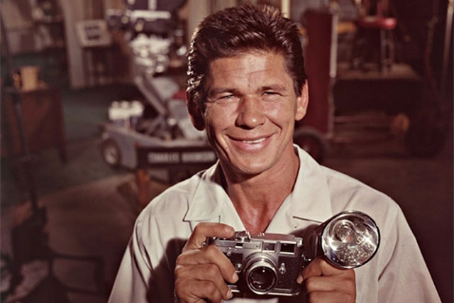 Charles Bronson with Leica M3
