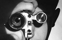 Andreas Feininger self portrait with Leica
