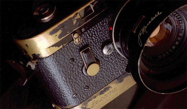 The well-used Leica MP of Jim Marshall