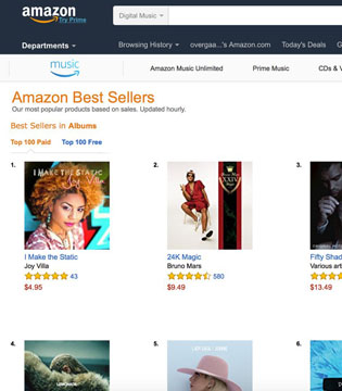 "Joy Villa ""I Make the Static"" no 1 on Amazon Albums"