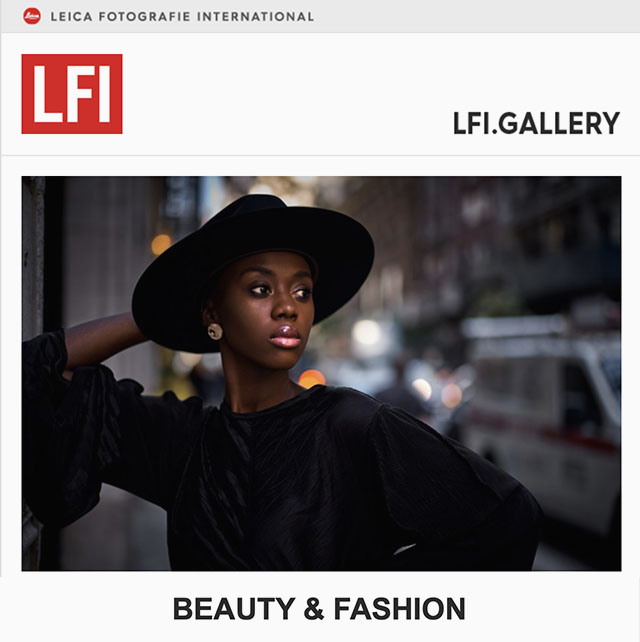The photo by Thorsten Overgaard of Pesy Therese was included in the LFI Gallery Beauty & Fashion