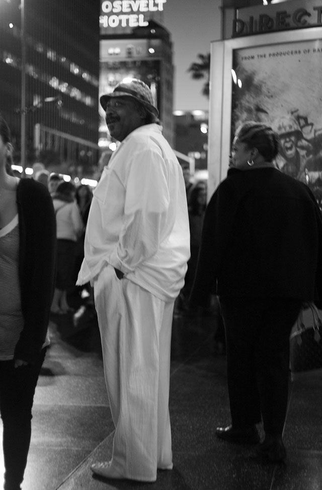 Leslie David Baker on Hollywood Boulevard.