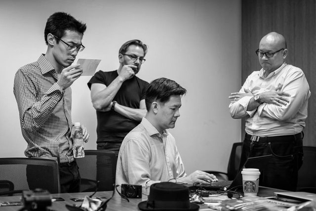 Ming Thein and Thorsten Overgaard judging the Maybank Photography Awards. Photo by Ming Thein.
