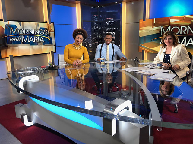 Joy Villa on early Mornings With Maria on Fox Business, aired (very) early in the morning live from LA.