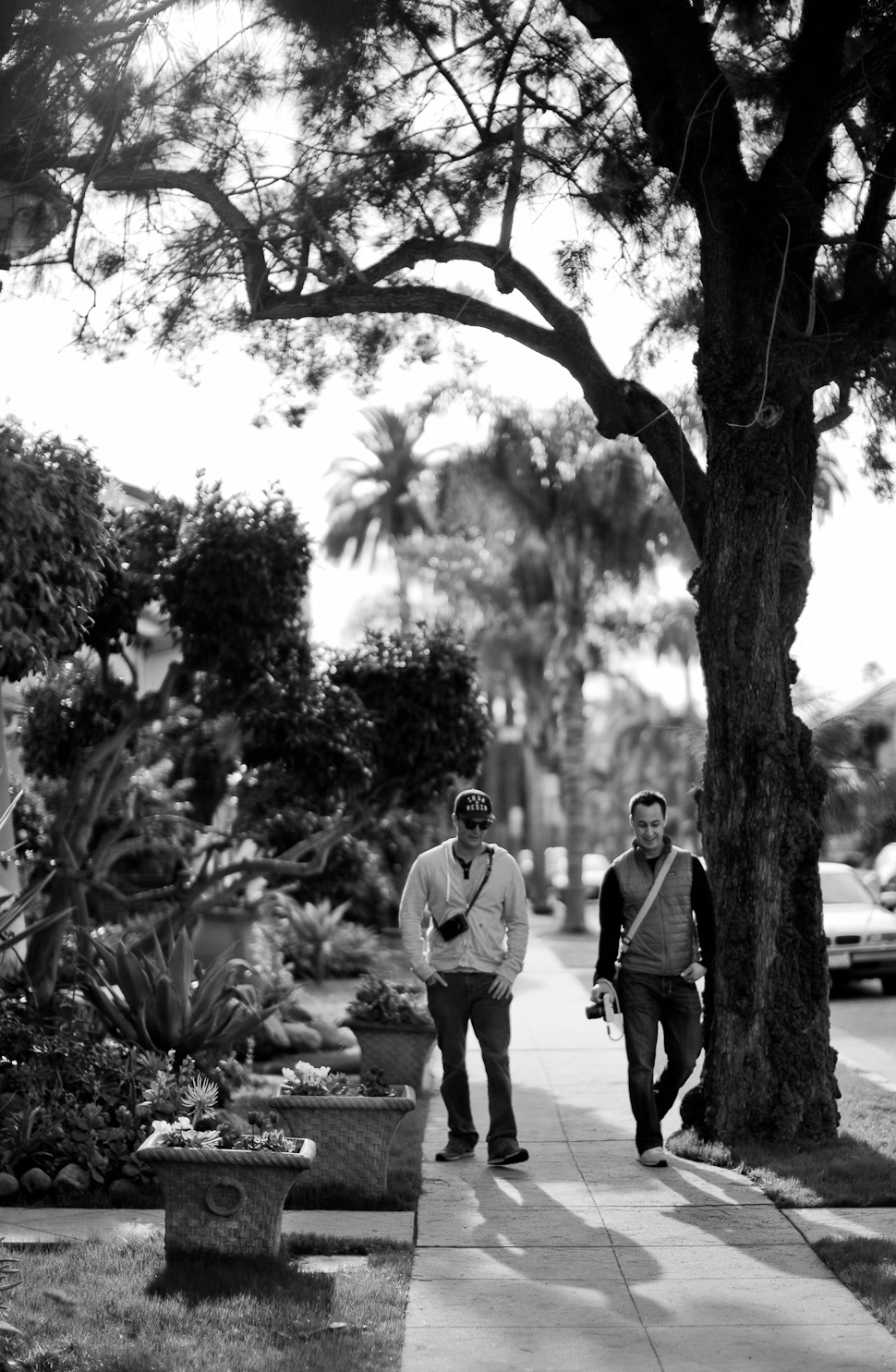 Rob and John in the sunny December weather in Santa Barbara, December 2014. Leica M240 with Leica 50mm Noctilux-M ASPH f/0.95