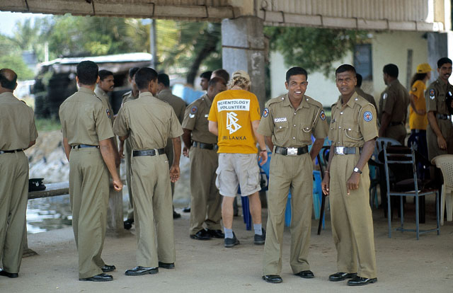 Scientology Volunteer Ministers training harbor police in Trinco