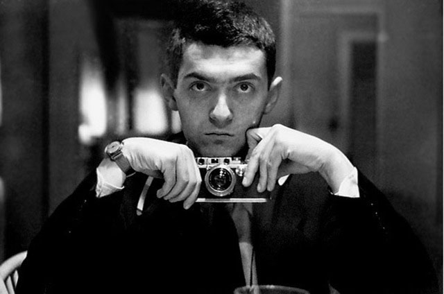Stanley Kubrick with his Leica