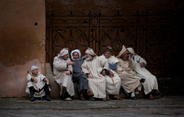 "Winner of the Maybank Photography Awards 2012 in the category Street. ""The Old Men of Marocco"" by Chau Sau Khiang."