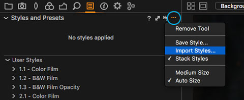 How to install Capture One Styles