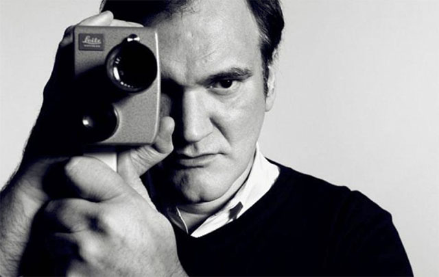 Quentin Tarantino with his Leitz Leicina S8 camera. Yes, Leiac used to make film camerasfor a short while. today they make Leitz Cine lenses.