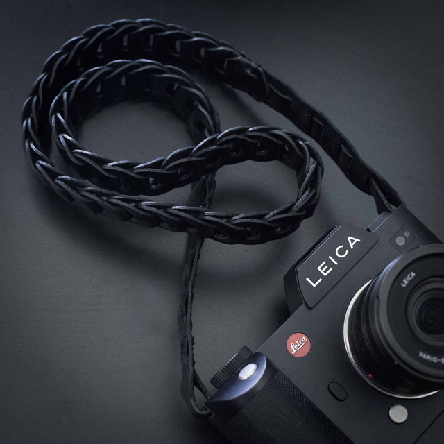 "The ROCK'N'ROLL (formerly known as TIE HER UP) ""Rock'n'Roll Chain SL"" black leather strap for the Leica SL that comes in 100cm and 125cm length. I recommend the 125cm, or ask for special lenght that fits you. Price around $150."