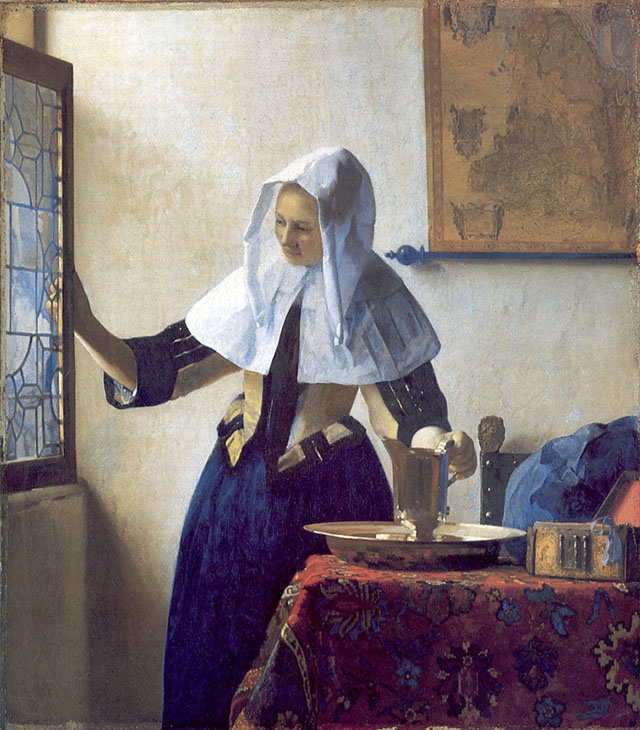 "Dutch painter Vemeer's ""Young woman with a water pitcher."""