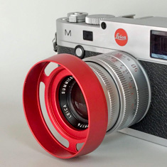 E39 RED ventilated lens shade for Leica lenses