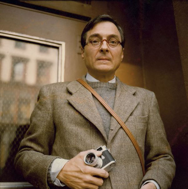William Eggleston with his Leica